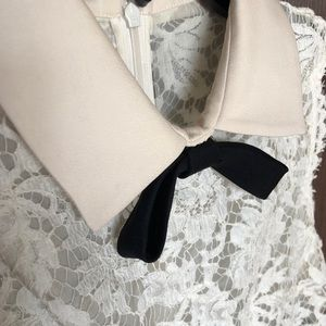 Valentino Dresses - Valentino Lace Dress with Ivory Collar